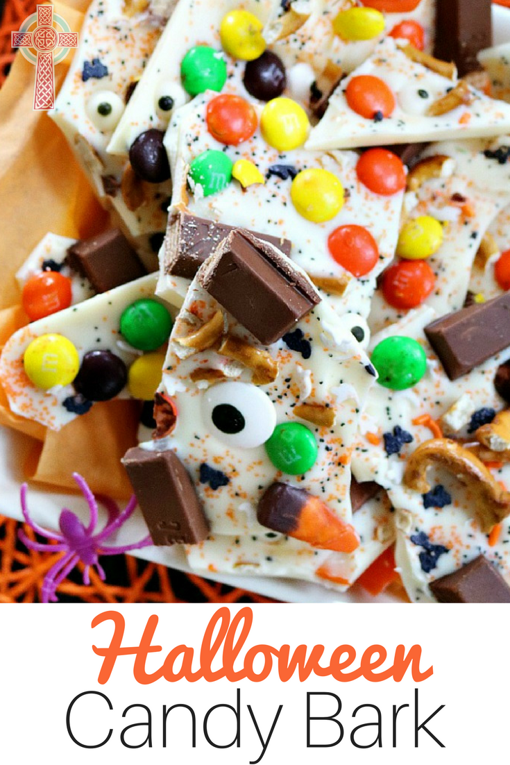 halloween candy bark - super easy + super fun! | mom curated recipes