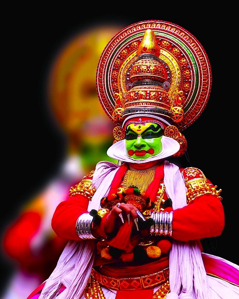 he doesn't need an introduction  but still  kathakali of kerala