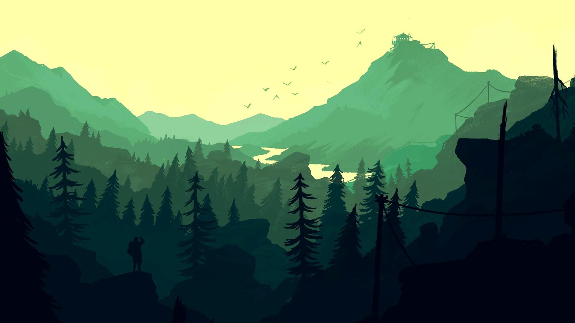 Firewatch green valley 1920 x 1080 wallpapers in - 2d nature wallpapers ...