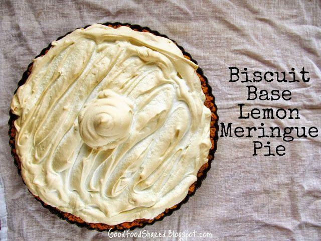 Biscuit Base Lemon Meringue Pie Lemon Meringue Pie Meringue Pie Food
