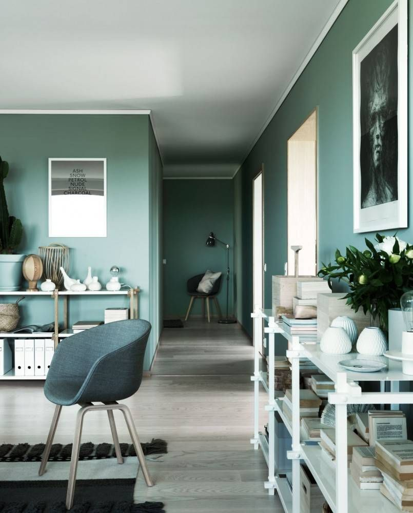 Grün Blaue Wandfarbe: Green Wall Paint COLOR TREND 2020