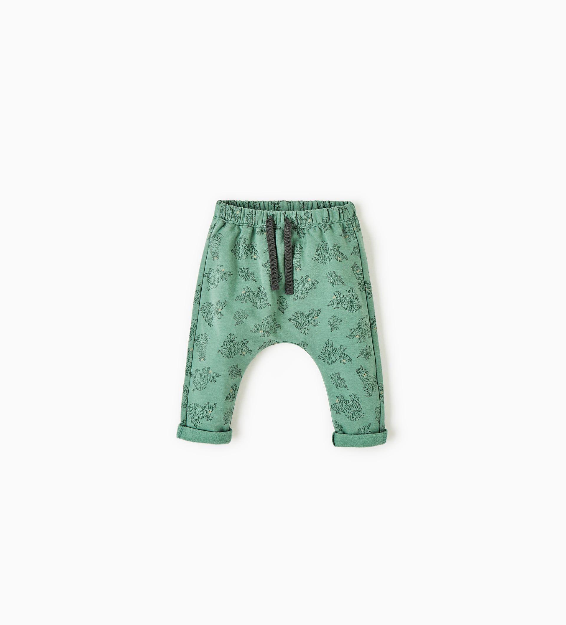 Spodnie Z Tkaniny Dresowej W Niedzwiadki Zara Kids Floral Leggings Boy Outfits