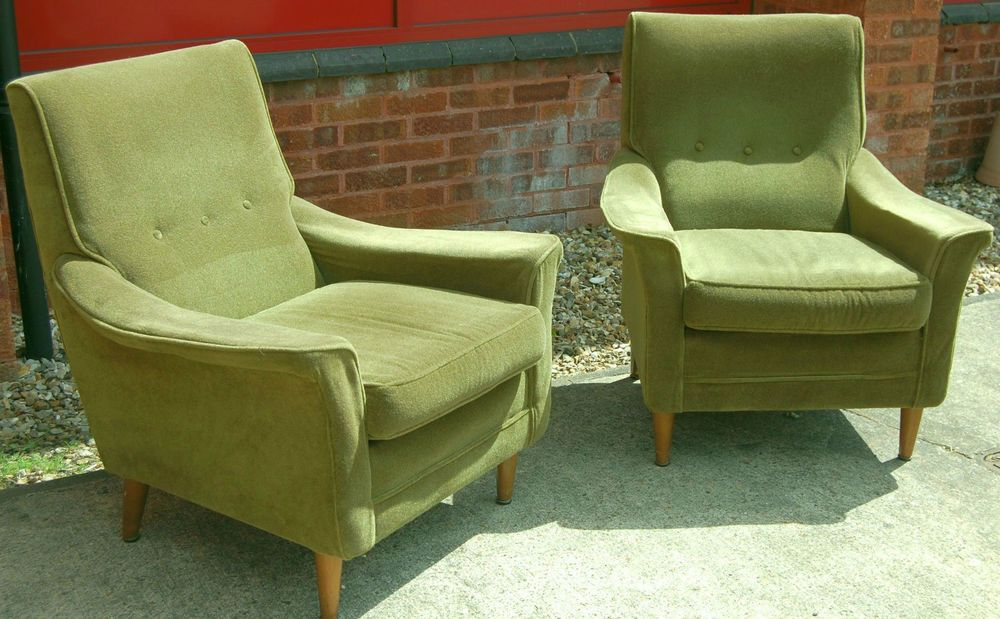 Vintage retro 1959 Cintique C5 Deluxe group chair Mid century