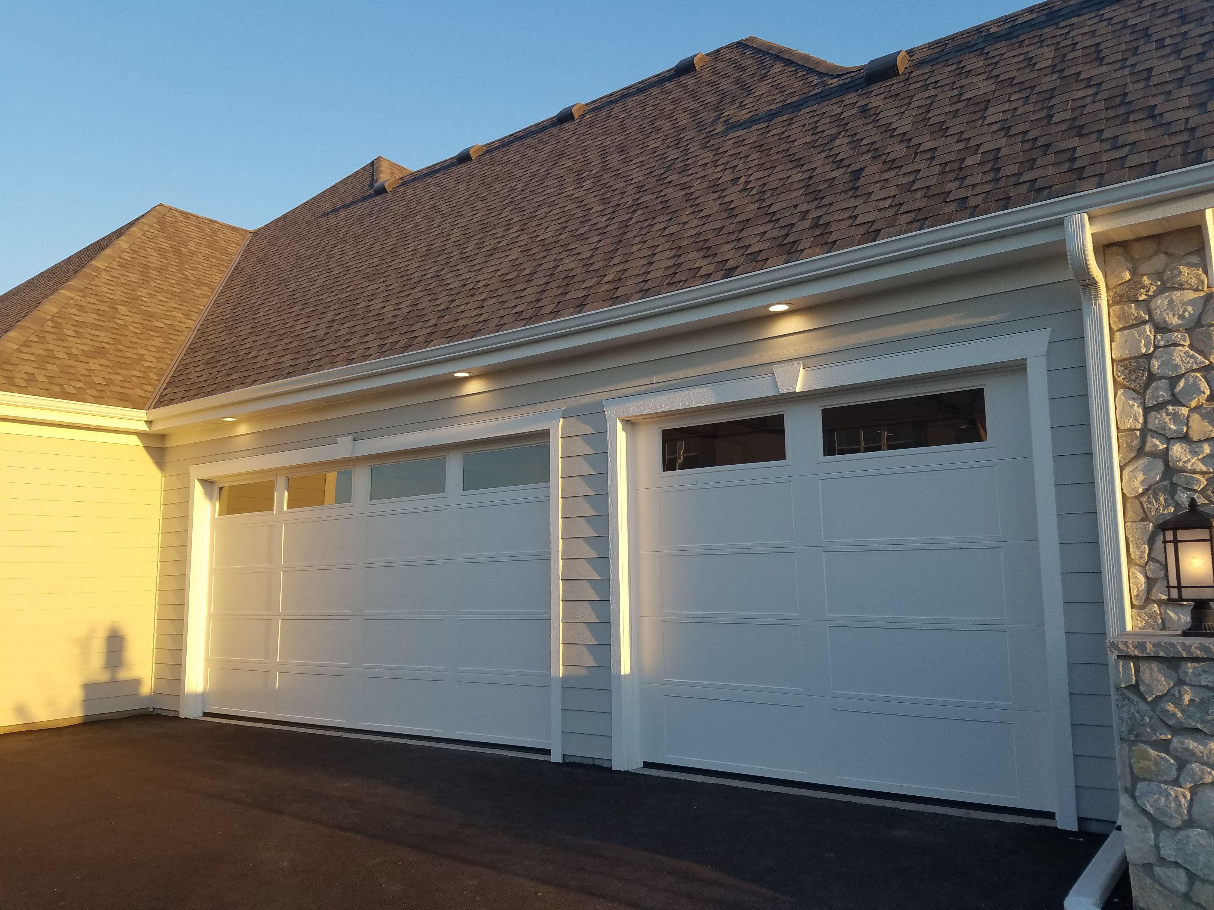 Another View Of Recessed Lighting Above A Garage Door