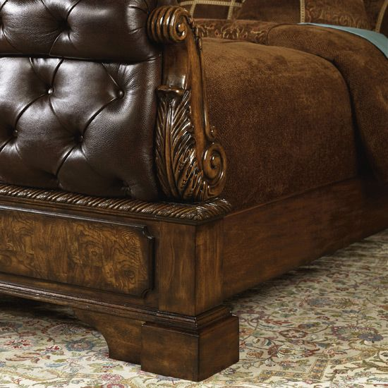 Best Ashley Furniture Beds For Sale Leather Sleigh Bed By 400 x 300