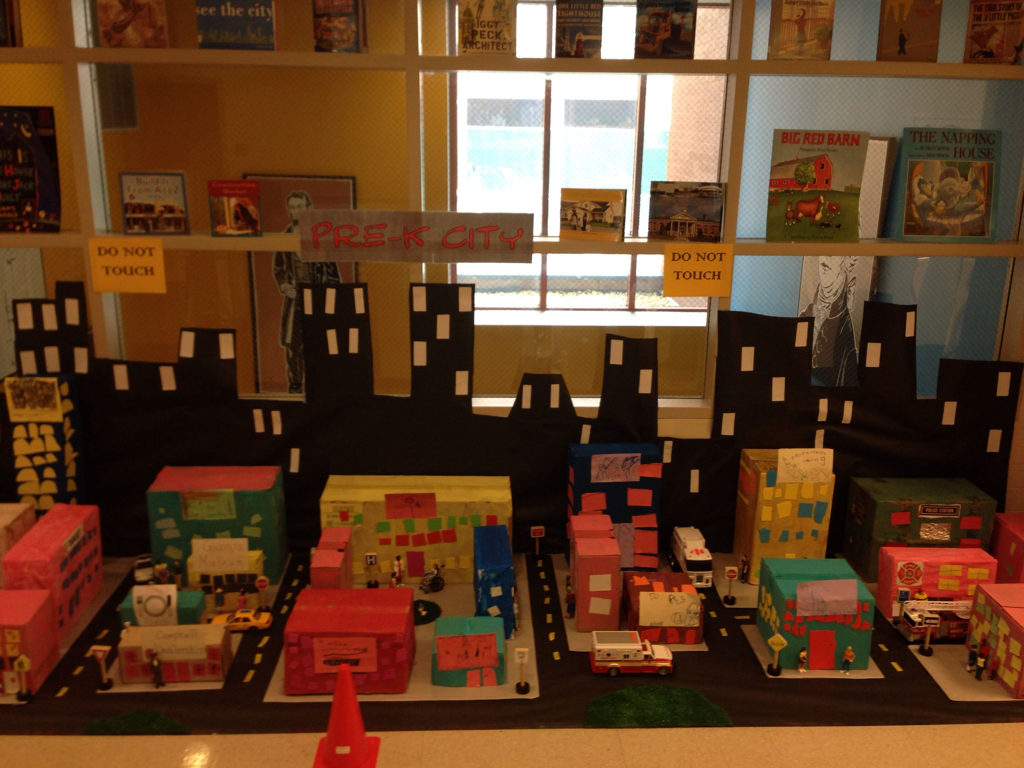 Pre K City For The Building Study Using Teaching