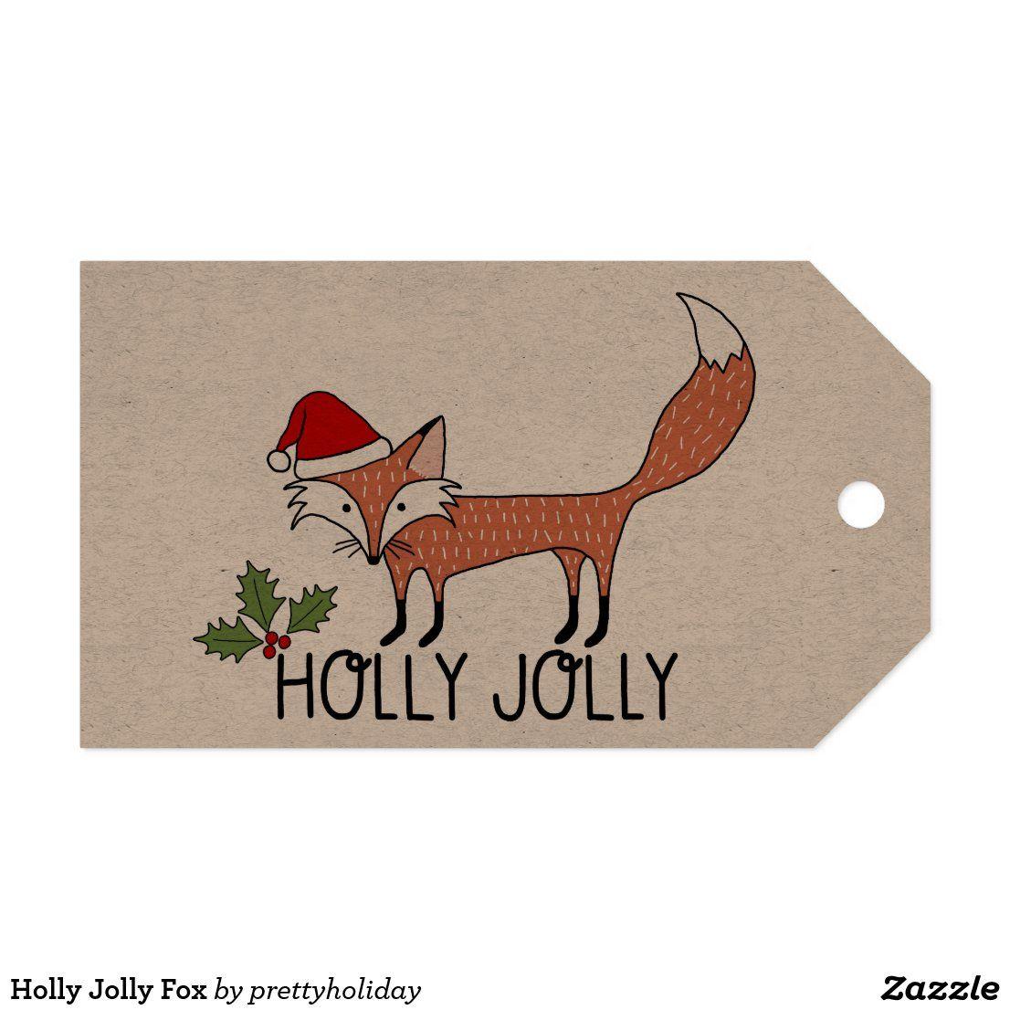 Holly Jolly Fox Gift Tags