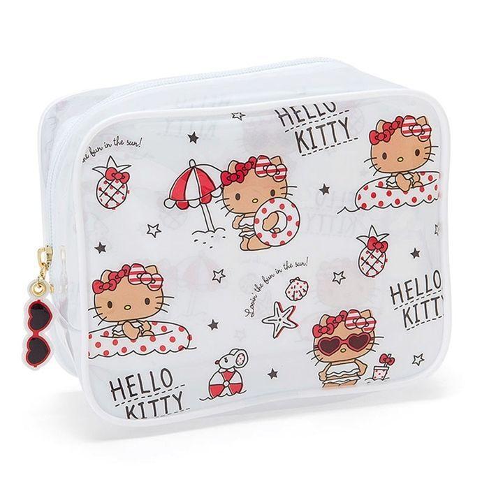 b82b4323ec Sanrio Original Hello Kitty PVC Clear Pouch Beach Bag Multi Travel Pouch  GKHK091  SanrioJapan