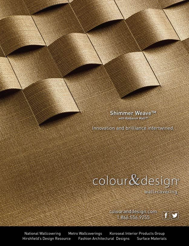 And For Colour Designs Shimmer WeaveTM In The April 2014 Issue Of Interior Design Magazine Bcreative