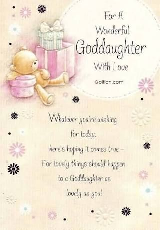 Christian Birthday Messages To My Goddaughter Message Myself 123 Greetings