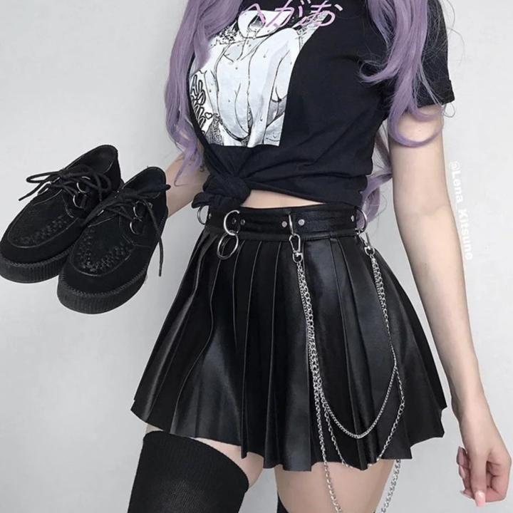 Grunge Skirt Korean Gothic Korean Style   Grunge skirt, Korean fashion, E  girl outfits