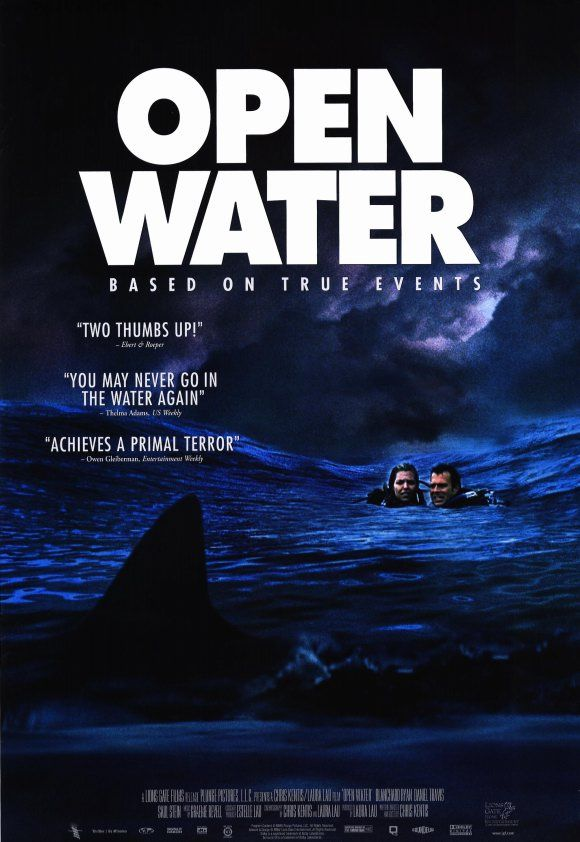 Open Water 2003 Movie Review Scary Movies Movie Posters Water Movie