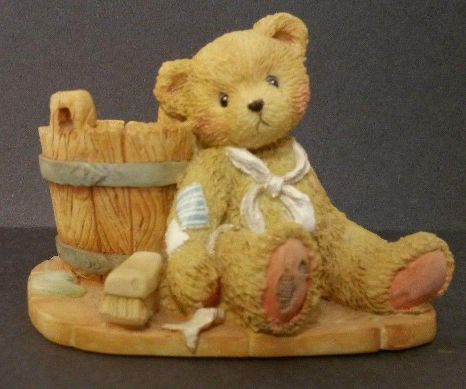 Cherished Teddies Joshua Collector Teddy Bear with Bucket in Collectibles | eBay