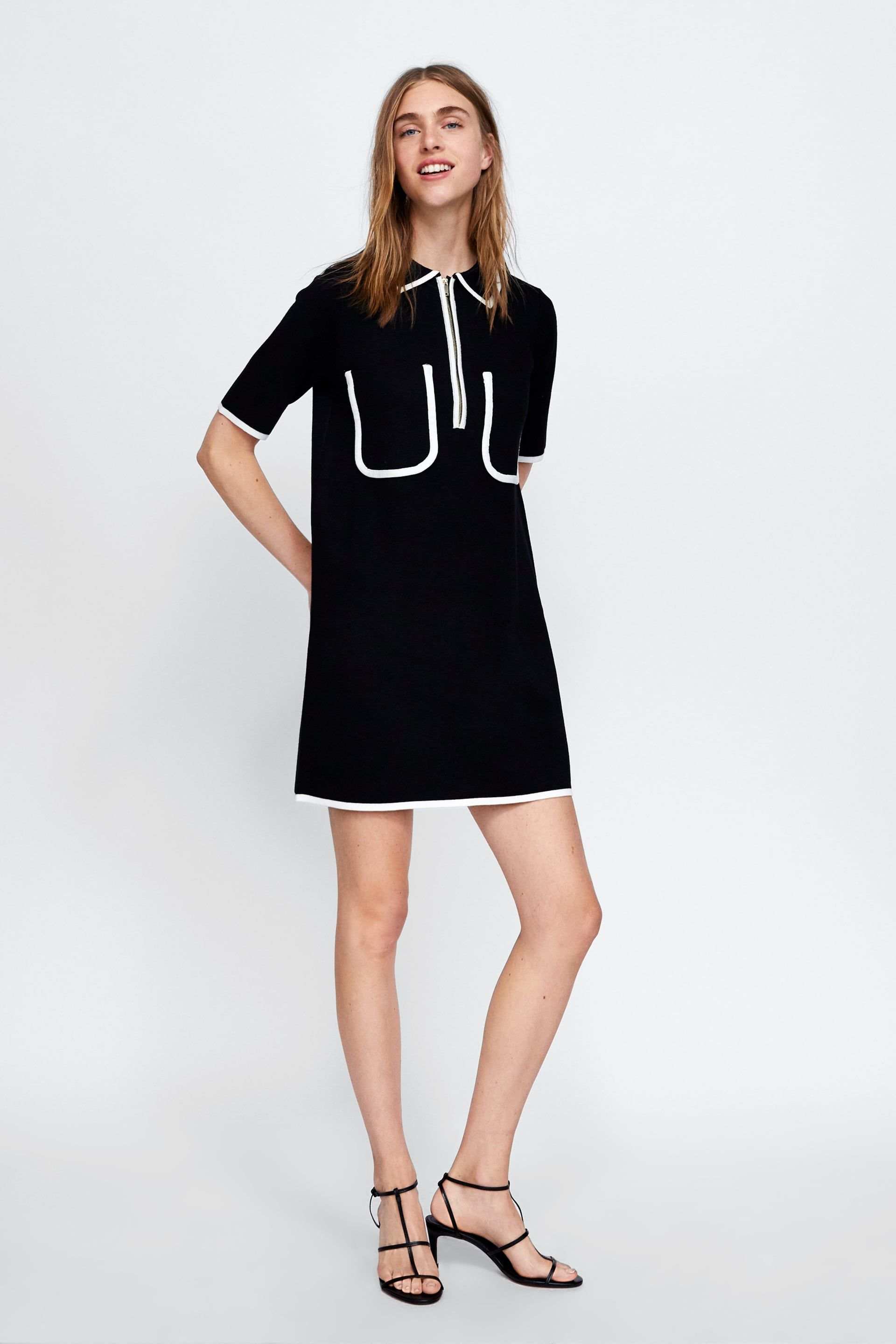 83fbd735 Image 1 of POLO-STYLE DRESS WITH CONTRASTING TRIMS from Zara ...