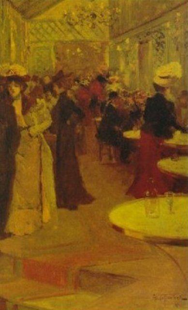 Louis Abel Truchet - Au café à Paris