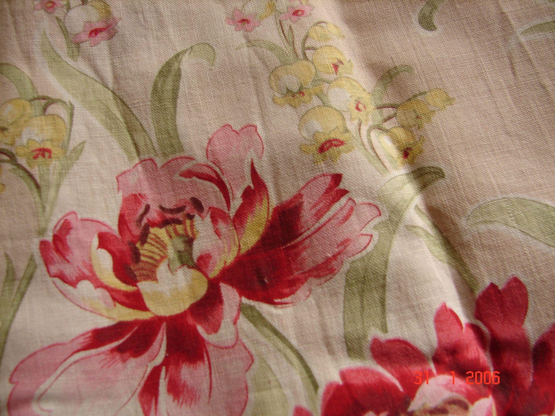 Tissu d ameublement fleuri style anglais - Tissus pour double rideaux ...