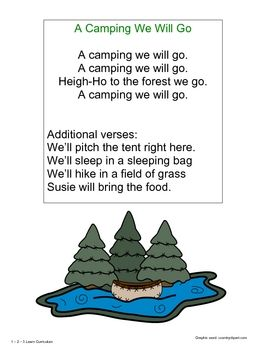 Camping Fun - Songs, Poems and Fingerplays | Camping