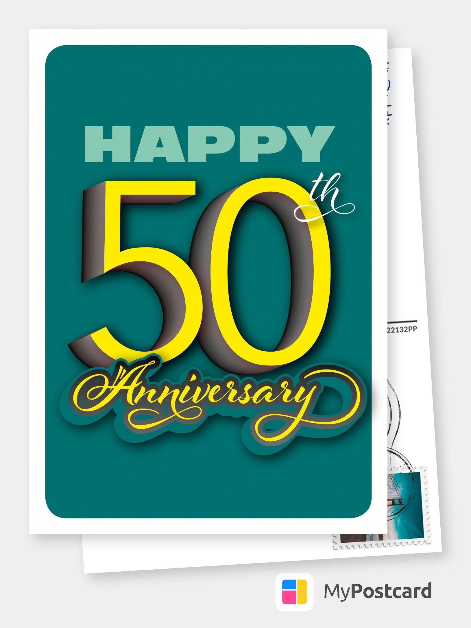 Happy 50th anniversary congratulation cards quotes