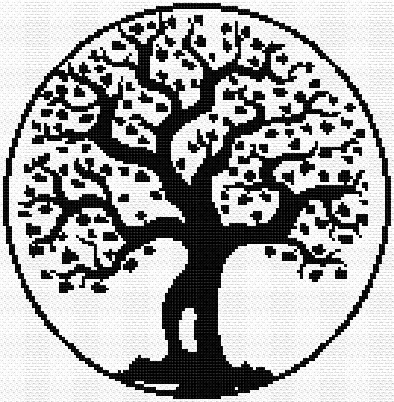 Free Chart Tree Of Life Cross Stitch Free Charts Leaves And Trees