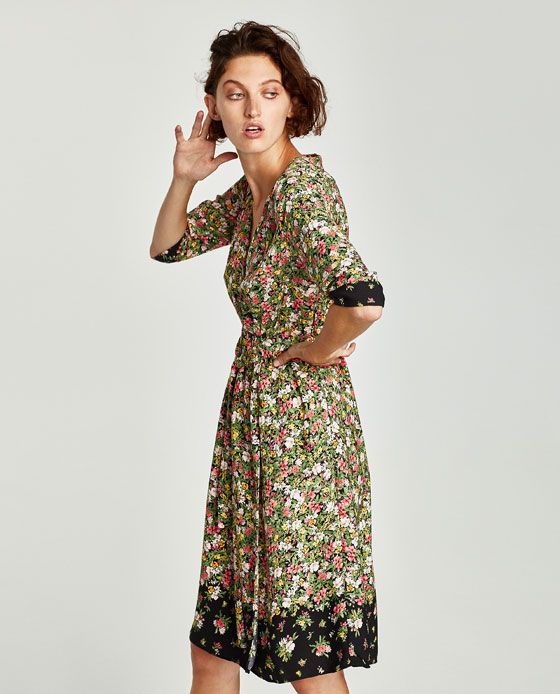 1acd7f5eef Image 2 of CROSSED FLORAL DRESS from Zara | PH SS 2019 | Dresses ...