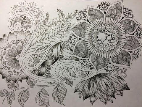 How To Draw Botanical Doodle Zentangle 11 Zentangle Drawings Tangle Art Art