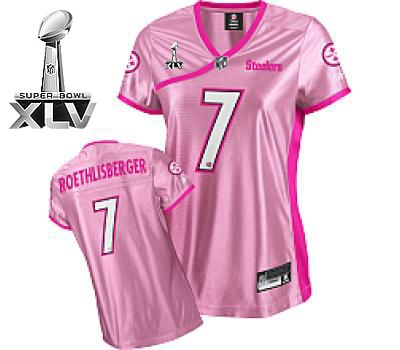 huge discount aaa2f 1a4d1 Steelers #7 Ben Roethlisberger Pink Lady Super Bowl XLV ...