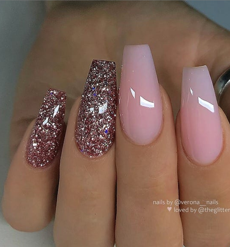 53 Chic Natural Gel Nails Design Ideas For Coffin Nails Natural Gel Nails Gel Nail Colors Coffin Nails Designs