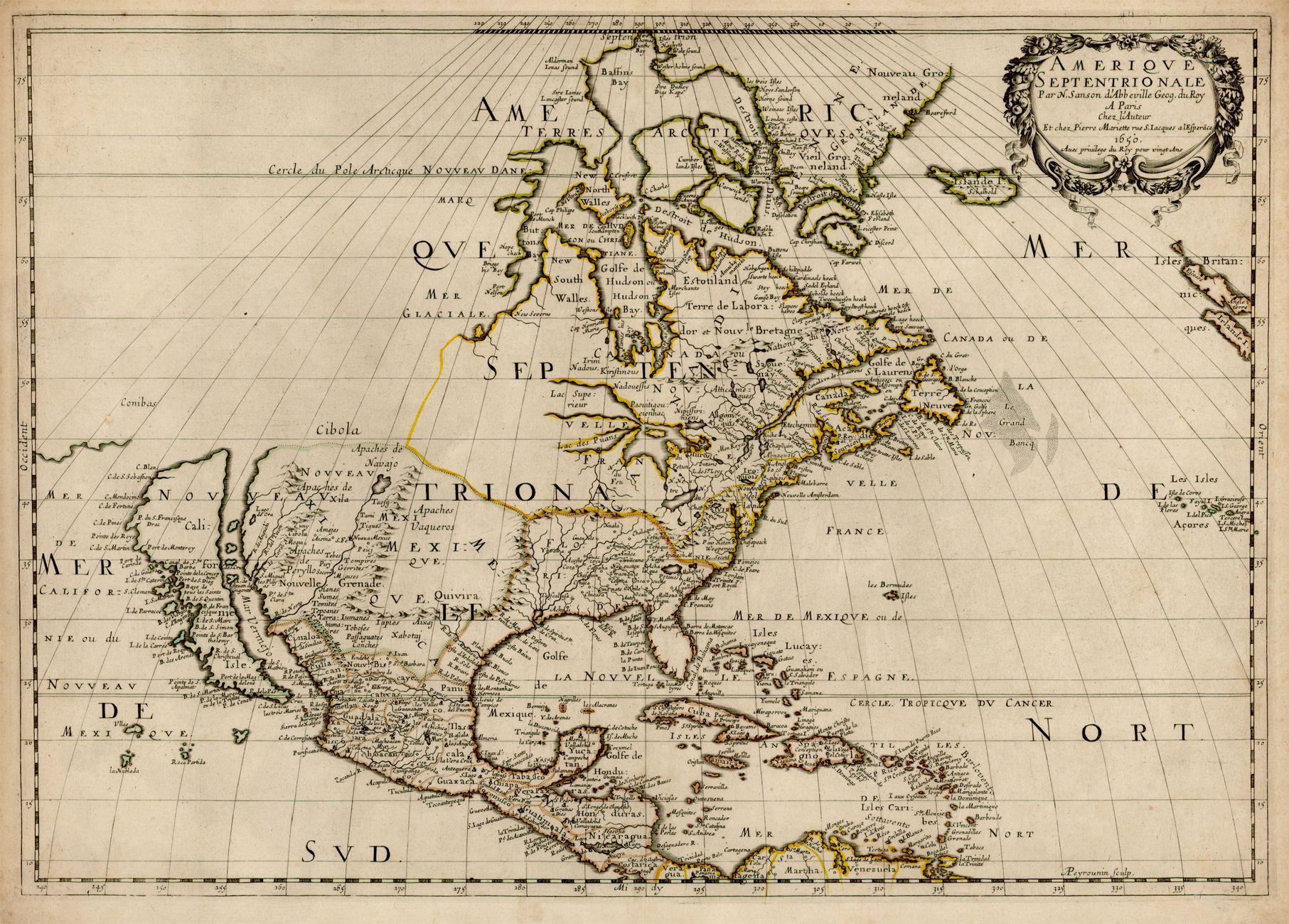 Island Of California On A Map By Nicolas Sanson Map Usa - Map de california