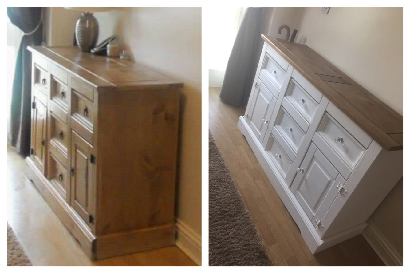 Mexican Pine Refurb Using Homemade Chalk Paint Pine