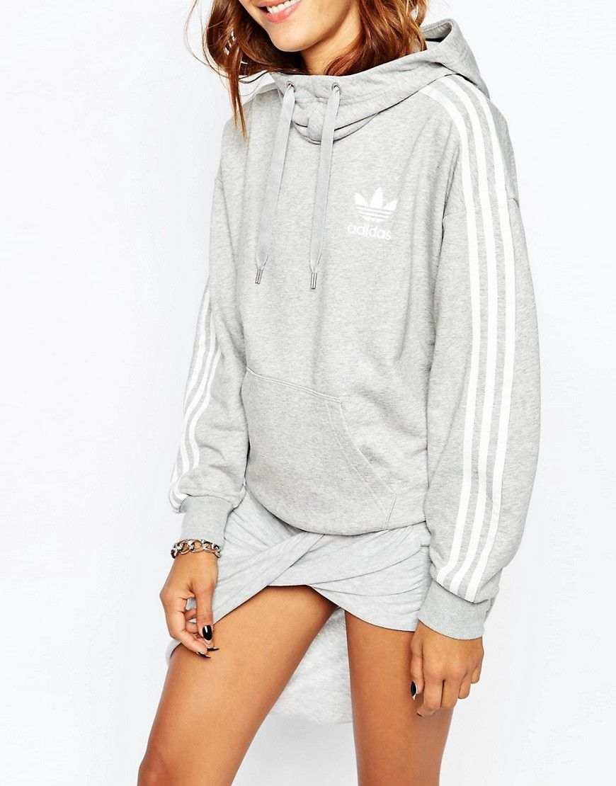 adidas Originals 3 Stripe Pull Over Hoodie | Adidas outfit ...