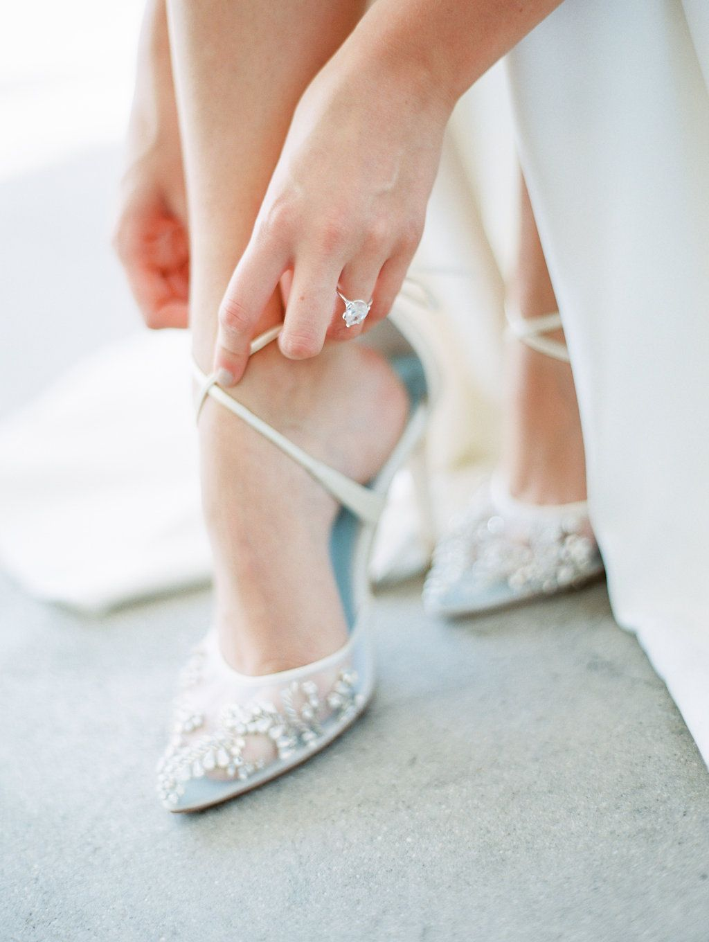 a5f577a9eb90 Florence hand beaded wedding heel with cross ankle straps by Bella Belle  Photography  Whiskers   Willow