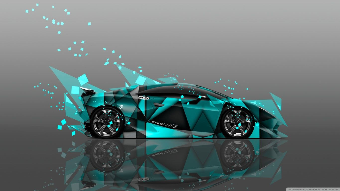 Lamborghini Sesto Elemento Abstract Aerography Car Design By Tony