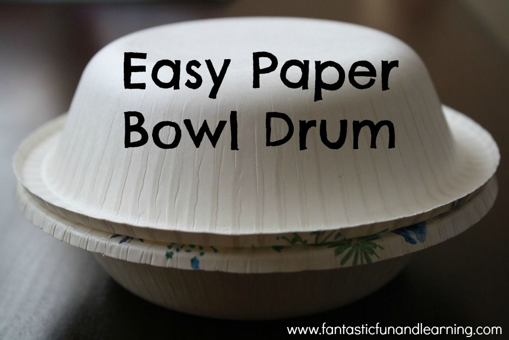 Diy drums to go with hand hand fingers thumb paper for Diy paper bowl
