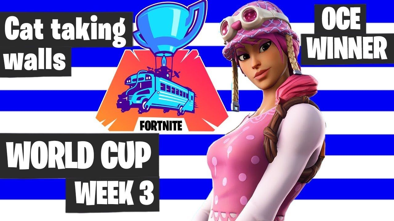 Cat Taking Walls Fortnite World Cup Highlights Oce Winner Fortnite To World Cup Fortnite Tournaments