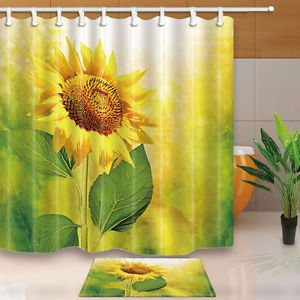 Sunflower Shower Curtain For The Home Bathroom