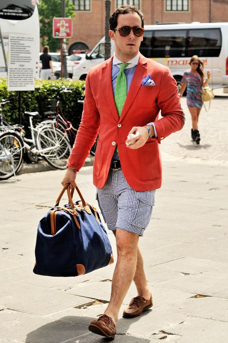 i like the idea of wearing shorts with a tie and blazer but i wish ...