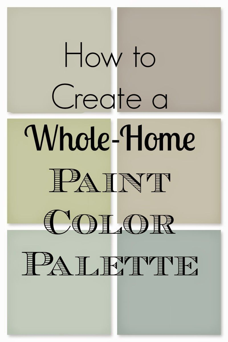 How to Choose a Whole Home Paint Palette   Paint colors for home ...