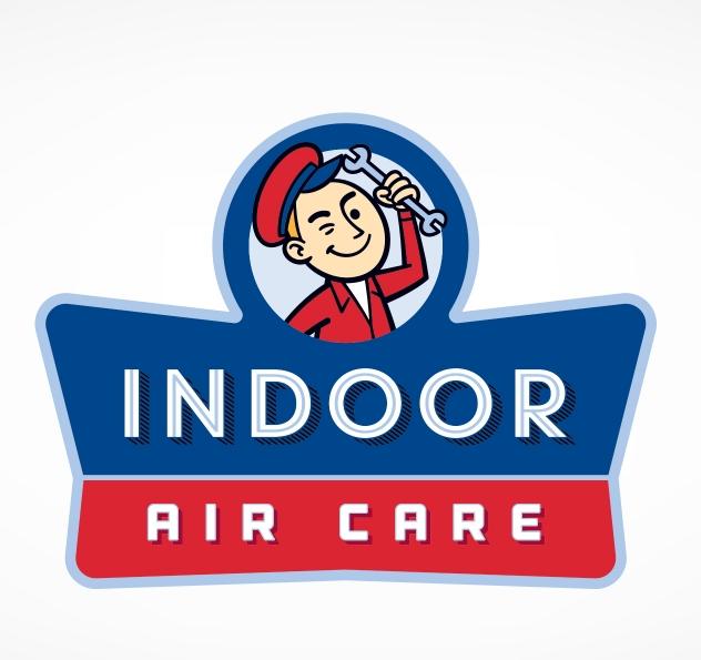 Retro logo for Indoor Air Care, a HVAC company in Florida