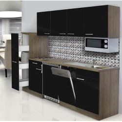Respekta Küchenzeile Kb225eysmic (Breite: 225 cm, Mit Glaskeramikkochfeld, Schwarz) RespektaRespekta #islanddecorating