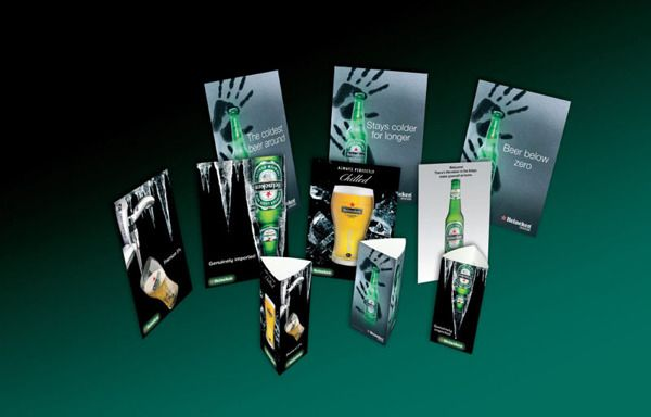 Heineken POS tent cards table standees and posters : heineken tent - memphite.com