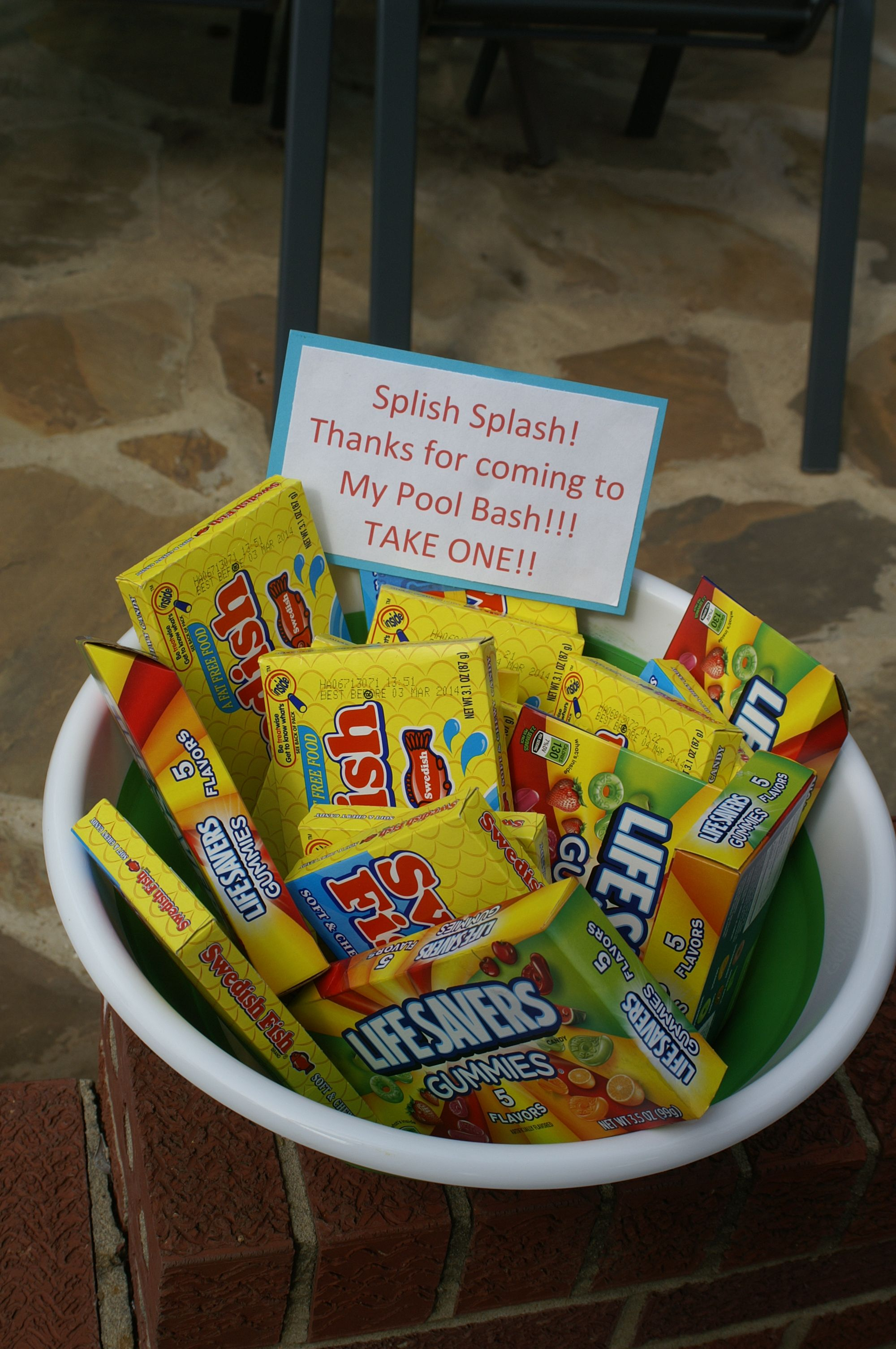 party favors for pool/beach party...keeping it simple ...