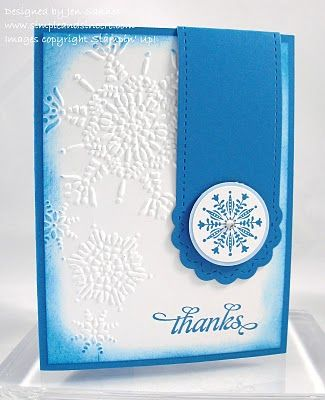 Simple & Sincere: Snowflake Magentic Bookmark Card