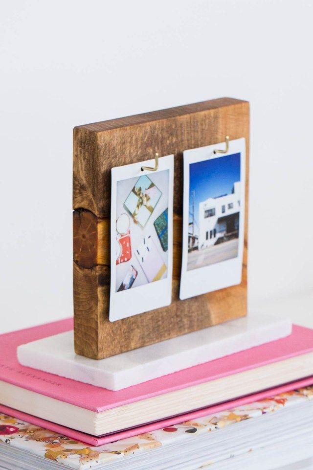 Un album photo bricolage Flip pour votre bureau! par la blogueuse lifestyle Ashley Rose of Sug ...