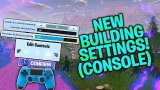 new build settings building sensitivity instant builds confirm edit fortnite console ps4 xbox - fortnite building settings xbox