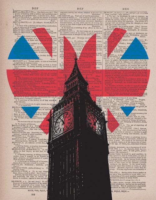 Heart Of London - Vintage Dictionary Book Print