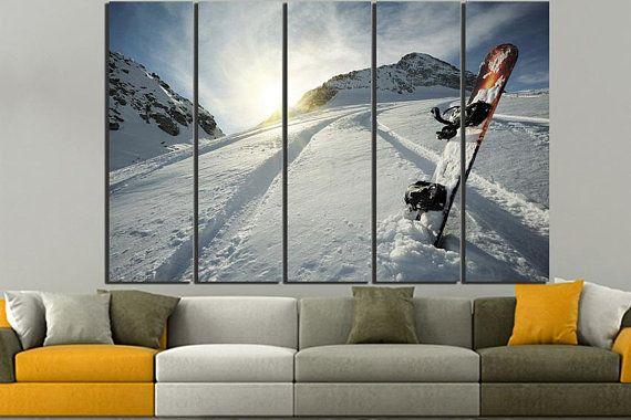 Snowboard Winter sport Print Art Snow Snowboard print Snowboard art ...