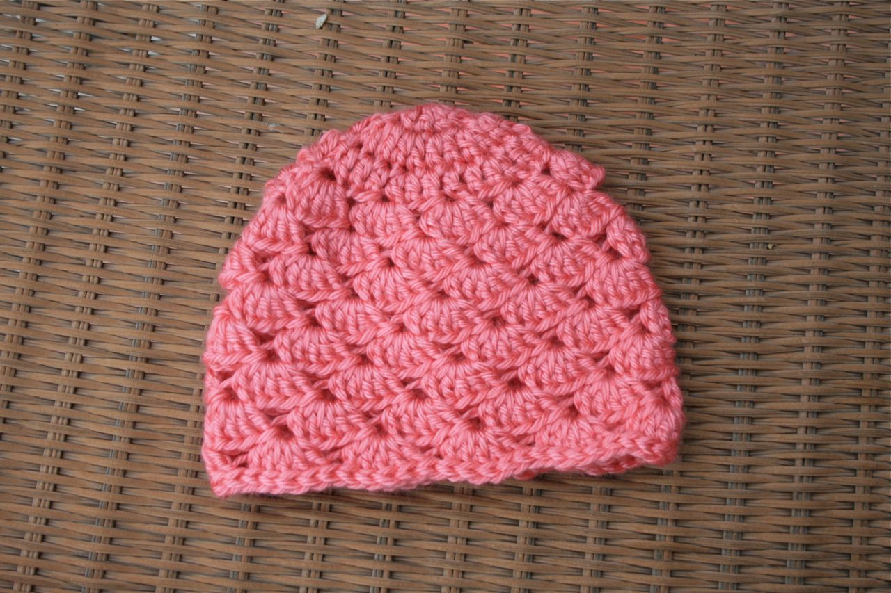 shell stitch crochet baby hat pattern. Jennifer Megan Designs  Babies 58068f463f7
