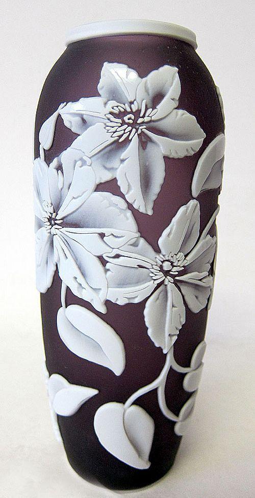 Fenton Aubergine Art Glass Vase