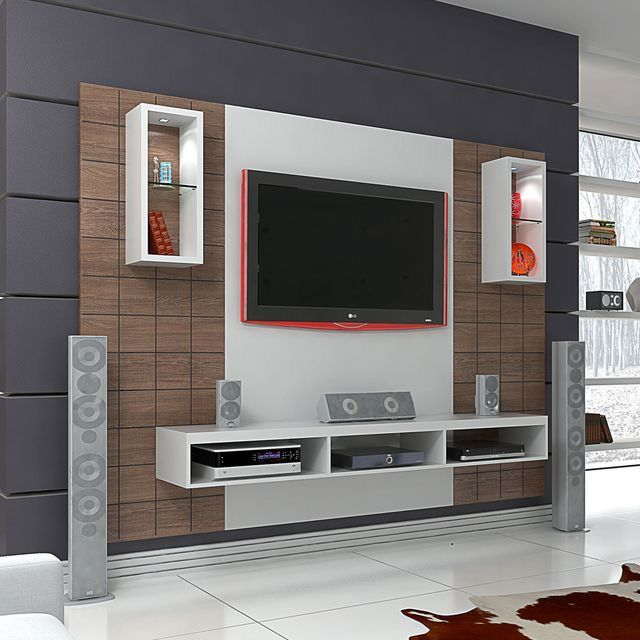 20 Best Diy Entertainment Center Design Ideas For Living Room Wall Tv Unit Design Modern Tv Wall Units Tv Wall Decor