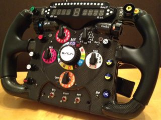Thrustmaster F1 Wheel Mod With Simr F1 Display Switches And Encoders Racing Simulator Gaming Pc Build Wheel